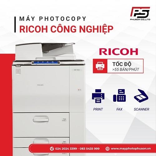 Bảng Giá Máy Photocopy Ricoh Công Nghiệp Mới Nhất Năm 2021