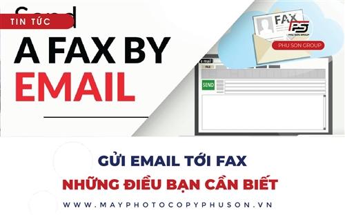 Gửi email tới Fax, những lưu ý cần biết