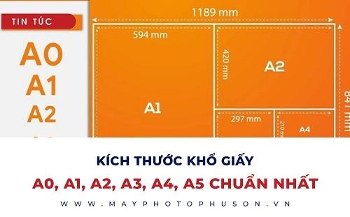 Kích thước khổ giấy A0, A1, A2, A3, A4, A5 chuẩn nhất
