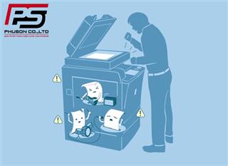 Làm gì khi máy Photocopy bị kẹt giấy trong trời nồm ẩm
