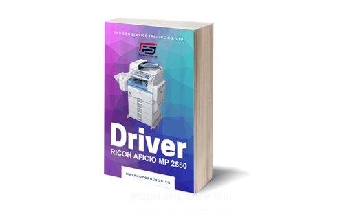 Download driver máy photocopy Ricoh Aficio MP 2550