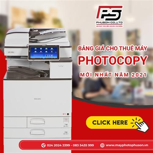 Bảng giá thuê máy photocopy mới nhất tại Phú Sơn năm 2021