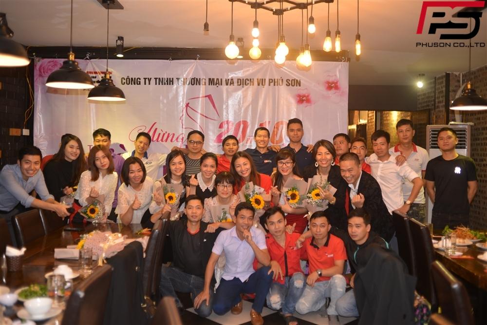 Chúc mừng ngày 20/10/2020 Công ty Phú Sơn