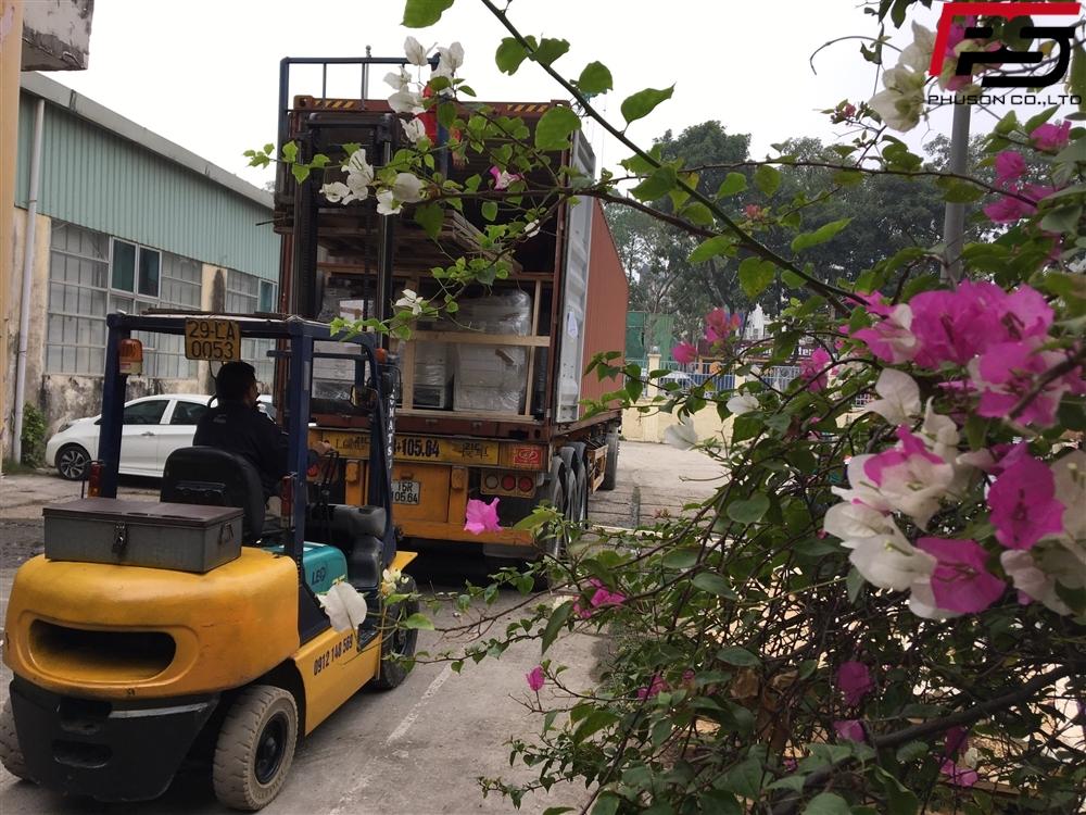 Chuyến container hàng về kho ngày 02/01/2020