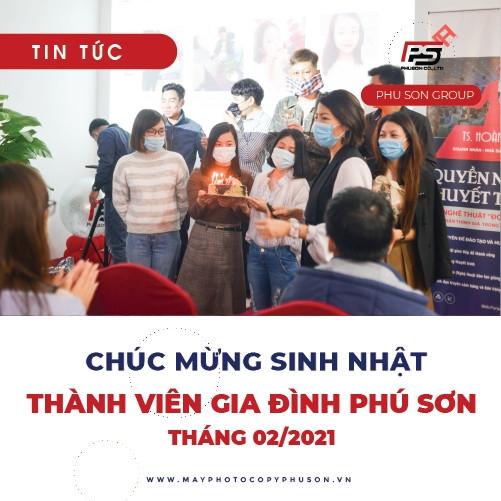 Phú Sơn Chúc mừng sinh nhật thành viên Tháng 2