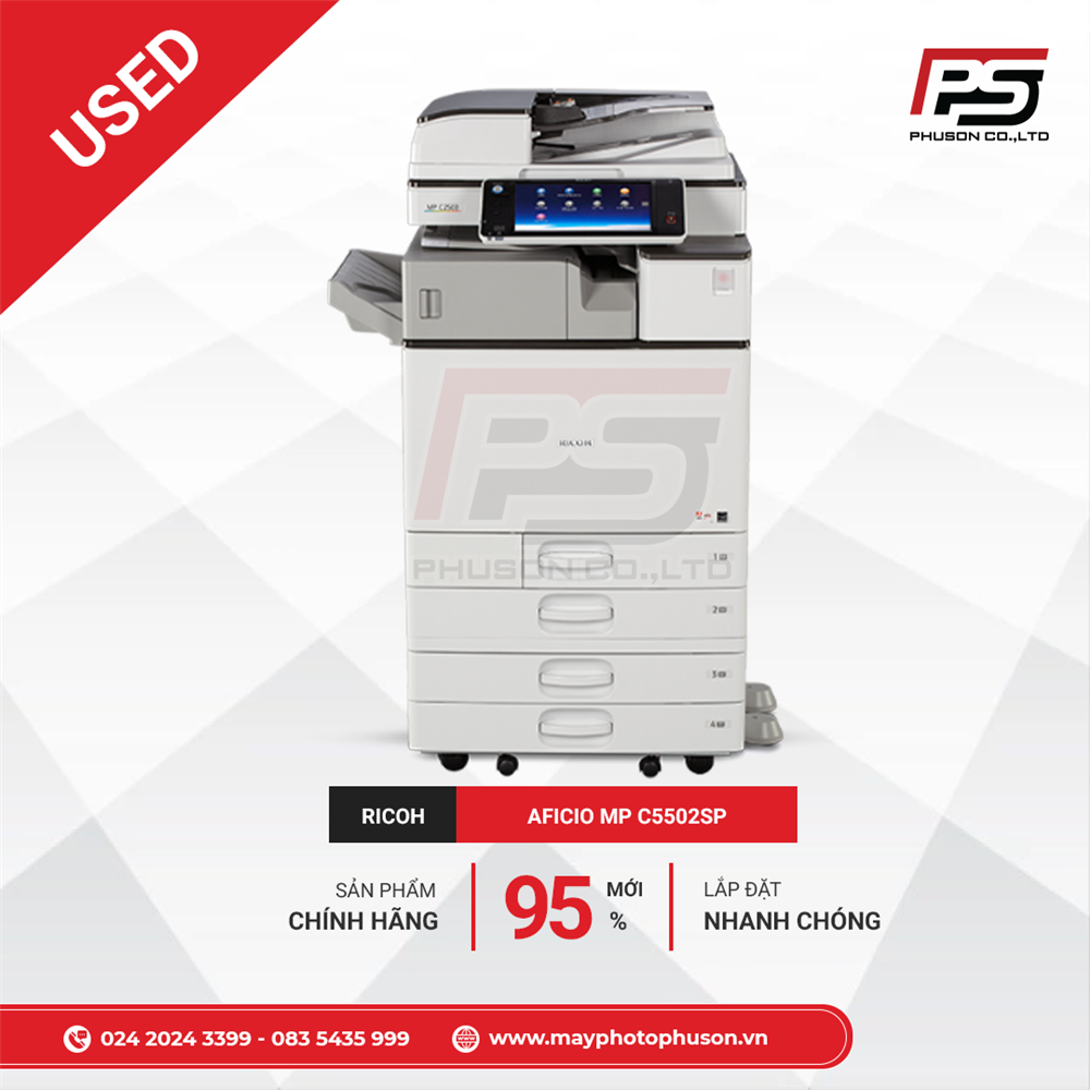 Máy Photocopy màu RICOH MP C5502